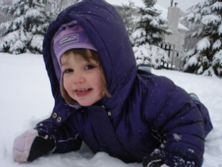 Alexandra in de sneeuw