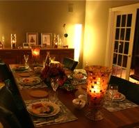 de kerst tafel .... met dank aan oma !