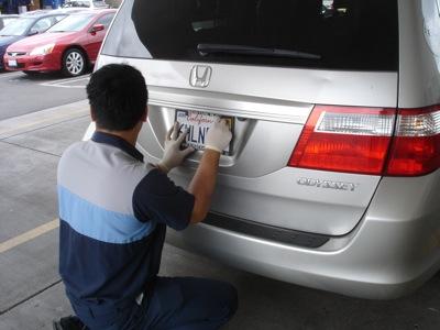 Oude Honda, nieuwe nummerplaat