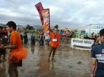Running in the mud…