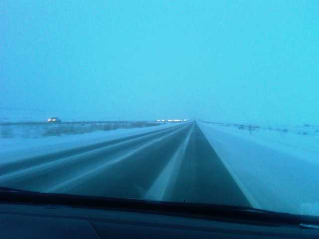 Snow on the I15